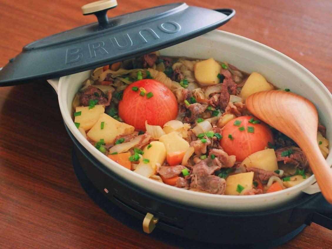 BRUNOで作った「まんまるトマトの肉じゃが」.jpg